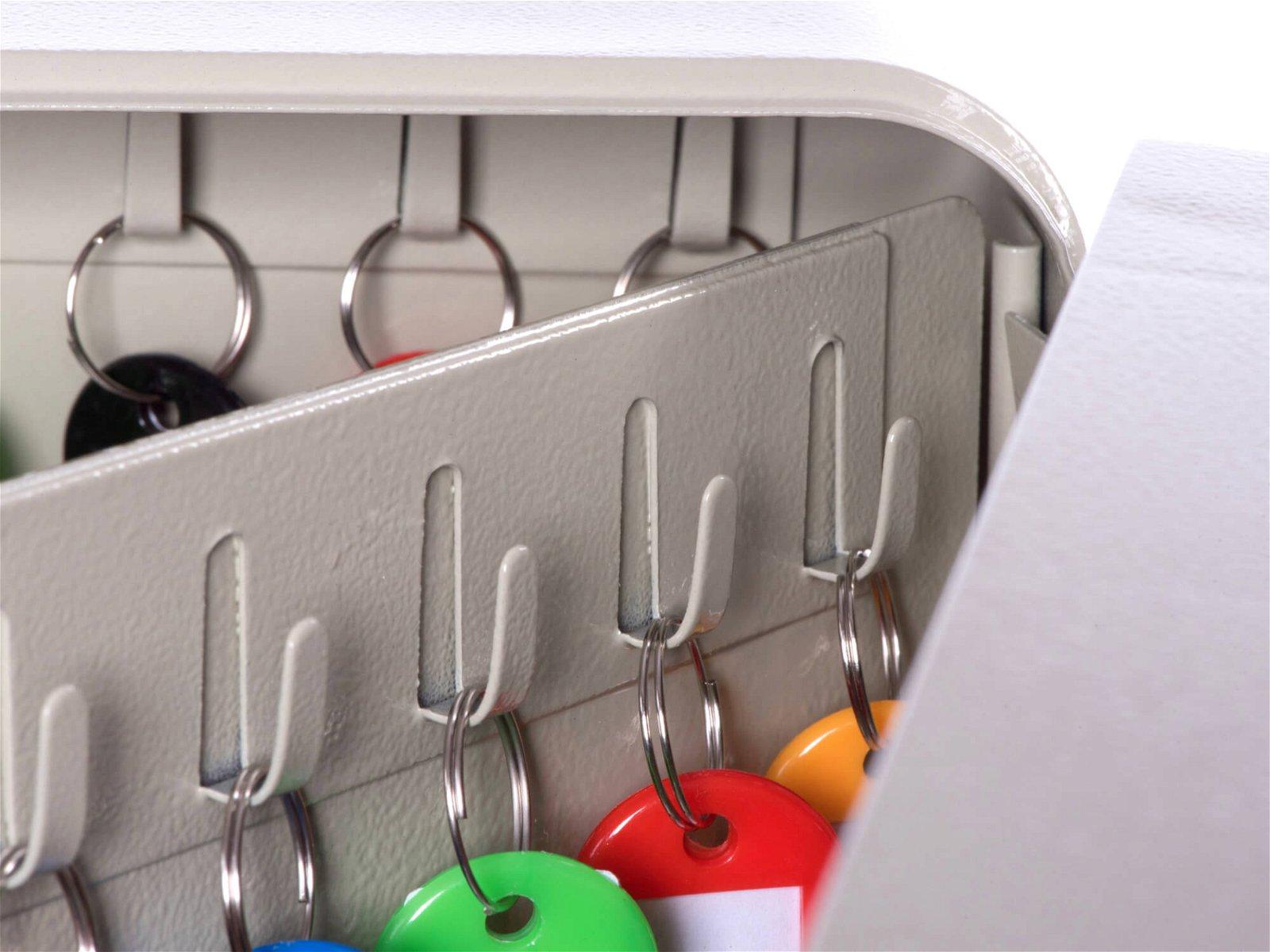 Schlüsselkasten für 90 Schlüssel, grau