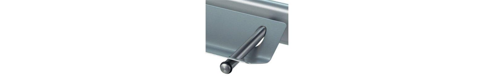 Mobiles Whiteboard MAULpro, drehbar, 100x210 cm, grau