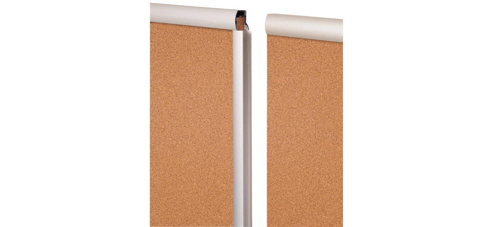 Endlos-Pinnboard, Kork, Erwei- terung, 120x90 cm, hoch, grau
