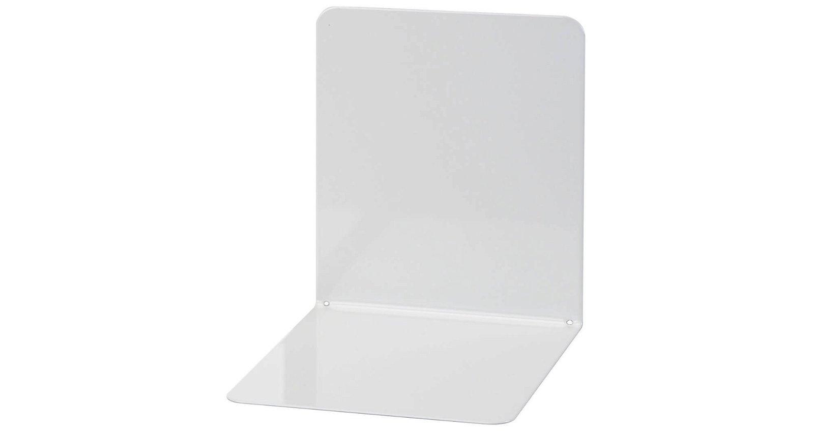Buchstützen aus Metall, breit, 14 x 12 x 14 cm, grau