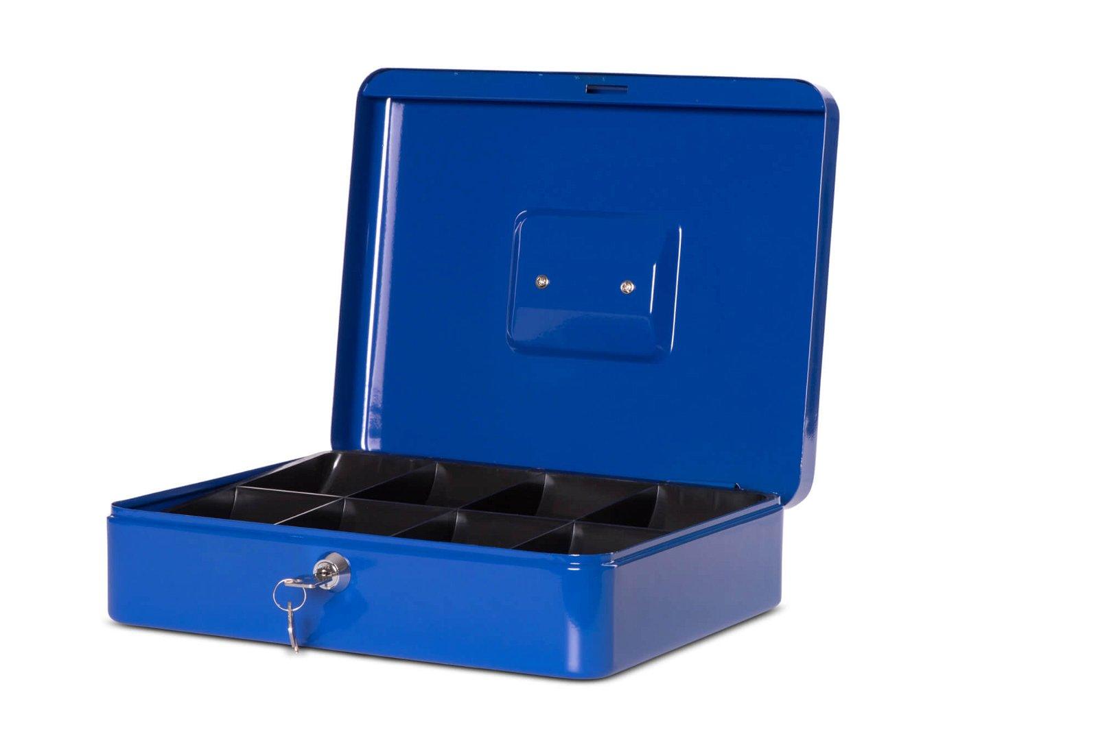 Geldkassette 4, 30 x 24,5 x 9 cm, blau