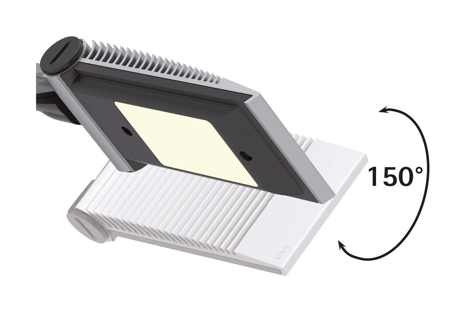 LED-Tischleuchte MAULsolaris, silber