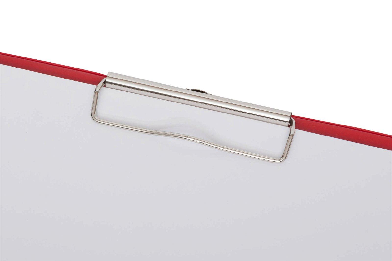 A4 Schreibplatte mit Folien- überzug, rot