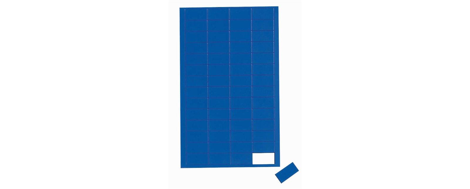 Magnetsymbole Rechteck,  56 St./Btl., blau